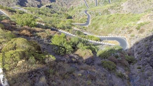 Zdjęcie XXL Widok z lotu ptaka wietrzna halna droga