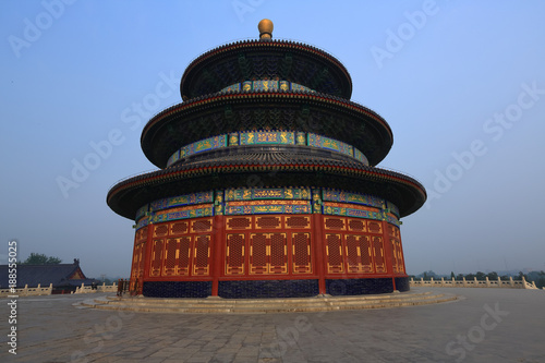 Poster Temple of Heaven in Beijing ,the famous attraction , China with copy space