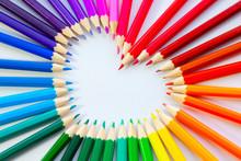 Herz Aus Buntstiften