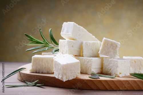 Fototapeta Feta cheese with rosemary obraz