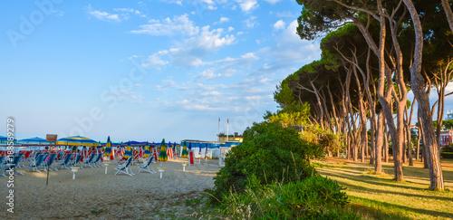 Beach of Roseto degli Abruzzi, Abruzzo, Italy Canvas Print