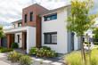 canvas print picture - modernes Haus, Haus für die Familie