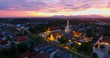 4K Aerial Movie of Ancient pagoda at Nakornsri thammarat in Sunset Scene, Thailand