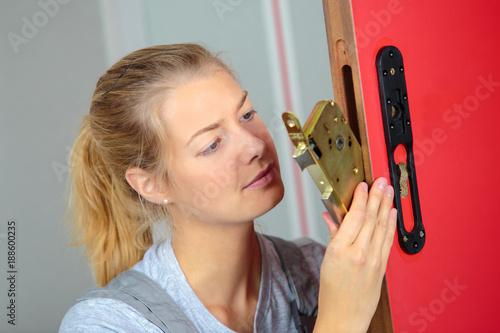 replacing the lock