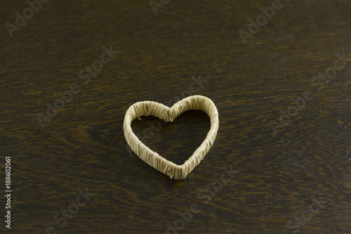Valentines Day Background Composition Heart Shape Wooden
