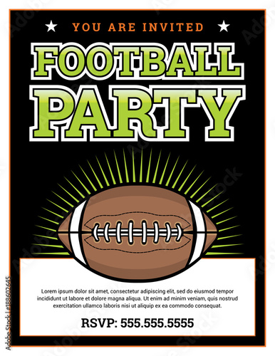 super bowl party invitations templates