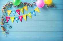 Happy Birthday Party Backgroun...