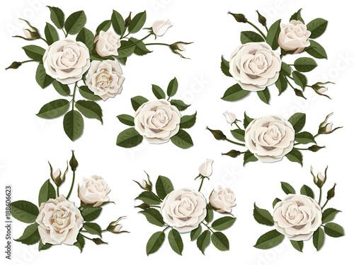 Obraz na płótnie White rose boutonniere