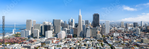 Photo sur Toile San Francisco San Francisco Skyline im Sommer