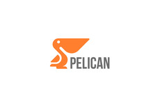 Pelican Bird Logo Abstract Design Vector Geometric Style