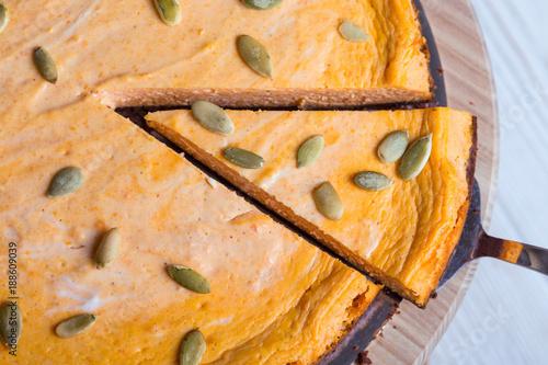 appetizing pumpkin cheesecake