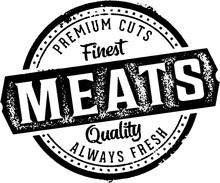 Premium Meats Butcher Shop Sign