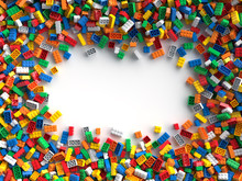 Colored Toy Bricks With Place ...