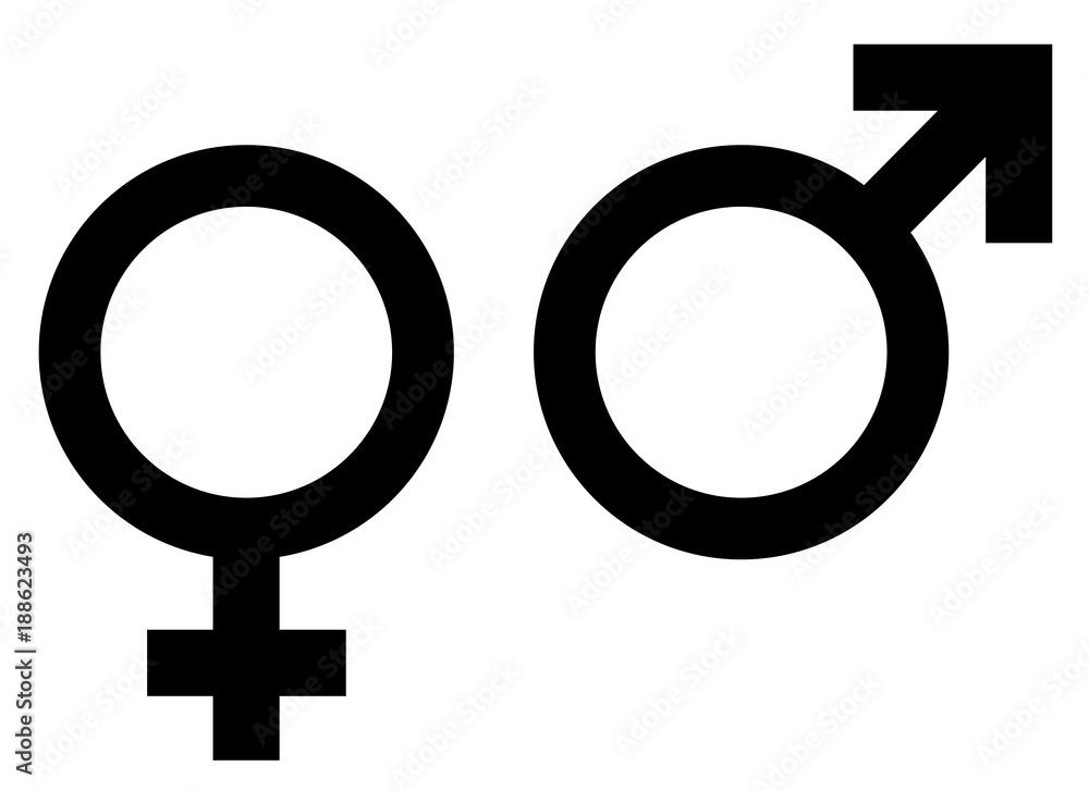 Frau mann symbol