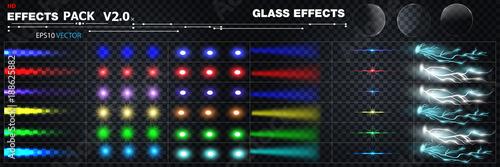 big set of effects Fototapeta
