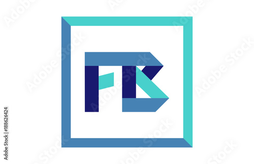 Fb Square Ribbon Letter Logo Buy This Stock Vector And Explore