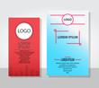 Business flyers and brochures with circle shape graphic elements. Vector template in A4 size.