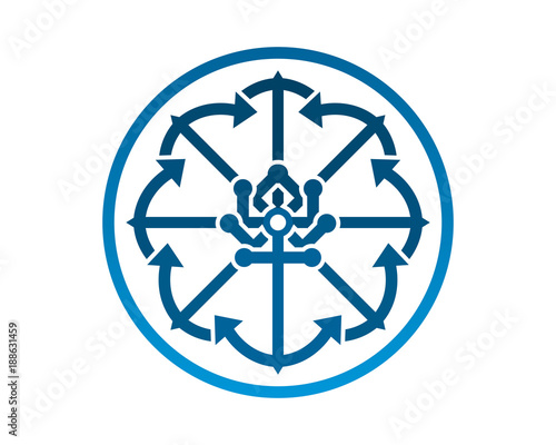 Ornament Anchor Hook Harbor Navy Marine Icon Symbol Image Buy This