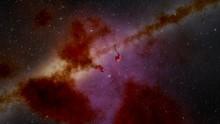 Eagle Nebula M16 And Milky Way Galaxy