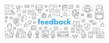 Modern Line Web Banner For Feedback