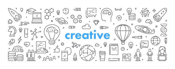 Nowoczesna koncepcja web liniowy dla kreatywnych