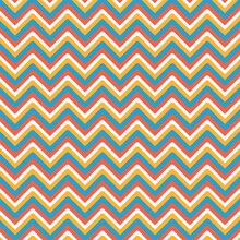 Chevrons Abstract Colorful Pat...