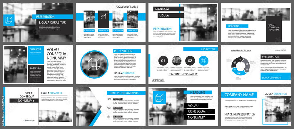 Fototapety, obrazy: Blue and white element for slide infographic on background. Presentation template. Use for business annual report, flyer, corporate marketing, leaflet, advertising, brochure, modern style.