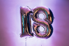 Decorative Number 18 For Birthdays