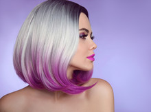 Colorful Dyed Ombre Hair Exten...