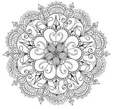 Decorative Floral Mandala