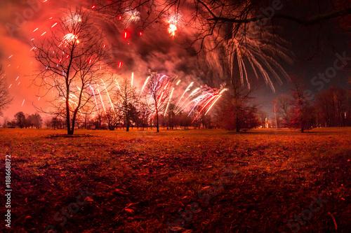 Photo sur Toile Rouge mauve Prague City during Christmas