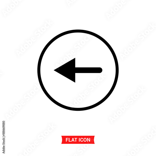Back Vector Icon Left Arrow Symbol Buy This Stock Vector And