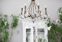 Crystal Chandelier In Room Int...
