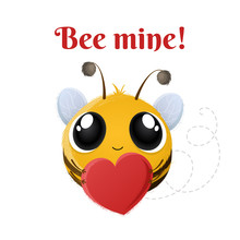 Cartoon Cute Bee Character Wit...