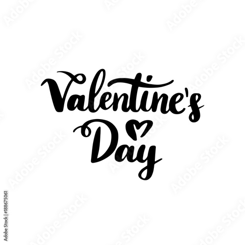 Photo  Valentines Day Handwritten Lettering