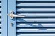 canvas print picture - Blaue Tür im Sonnenlicht - abstrakt