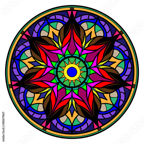 Colorful mandala on a white background Fototapeta