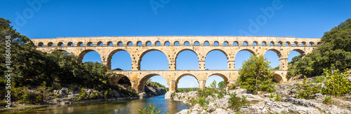 Recess Fitting Artistic monument Aqueduct Pont du Gard - Provence France