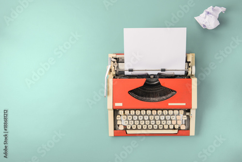 Red typewriter (top view)