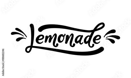 Valokuva  Lemonade word lettering
