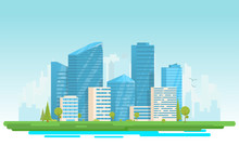 City Buildings Vector Illustra...