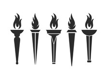 Torch Logo. Isolated  Torch On...