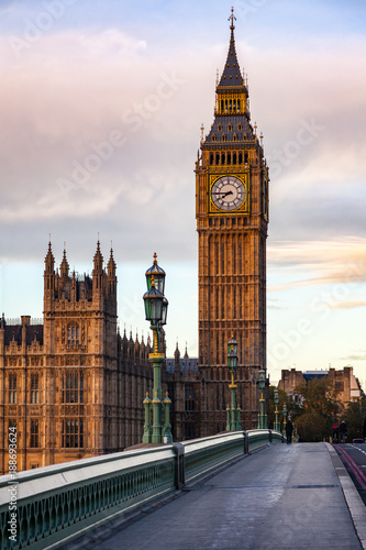 Photo Elizabeth Tower or Big Ben Palace of Westminster London UK