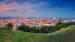 canvas print picture - Auckland. Cityscape image of Auckland skyline, New Zealand taken from Mt. Eden at sunset.