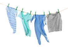 Children's Clothes On Laundry ...
