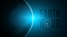 Earth Hour. Cosmic Concept. Fu...