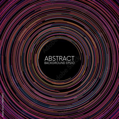 Obraz Abstract colorful random circular lines background - fototapety do salonu