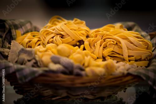 Photo  Fresh hand-made pasta, easily found in most restaurants around Rome