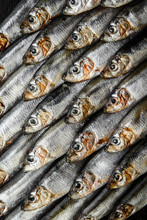 Fresh Raw Fish Anchovy And Spr...