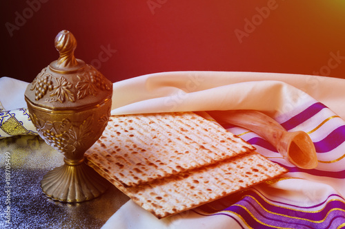 Poster  passover jewish matzoh bread holiday matzoth celebration